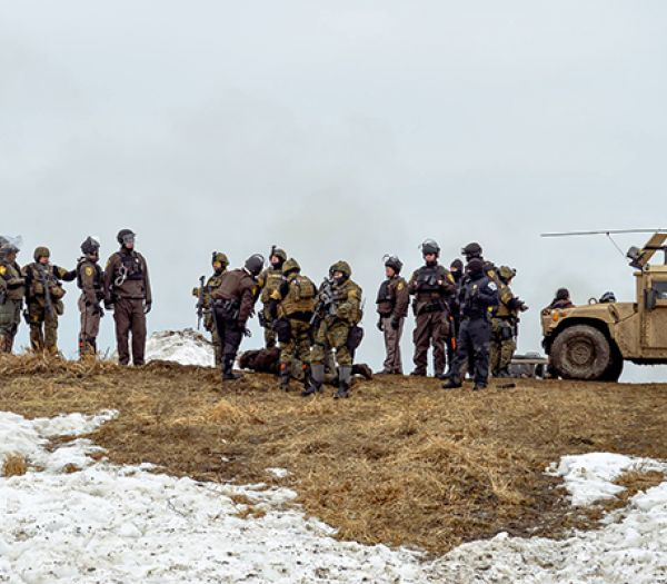 Don't Let Water Protectors Go to Jail ~ Sign Petition ParaMilitary_500x400