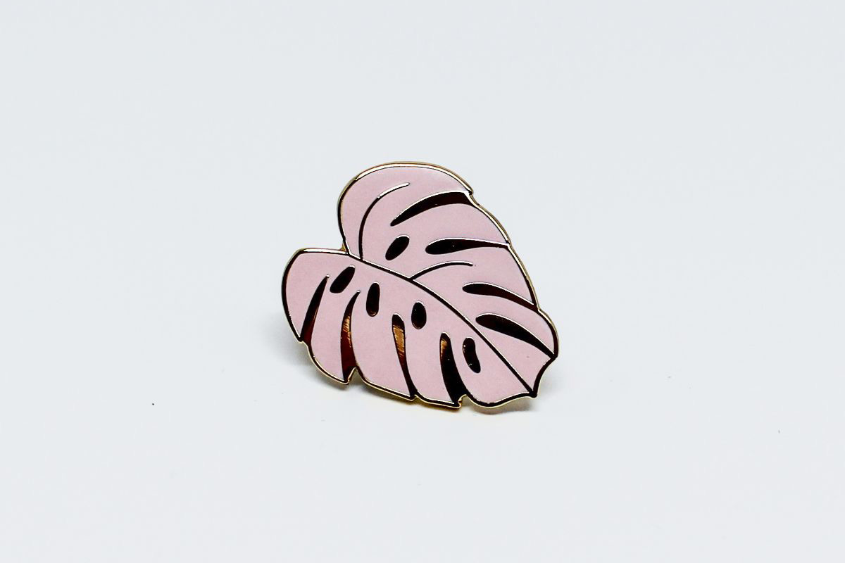 Pink Monstera Pin - Pink Monstera Pin