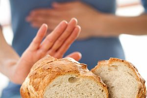 Photo of woman rejecting bread