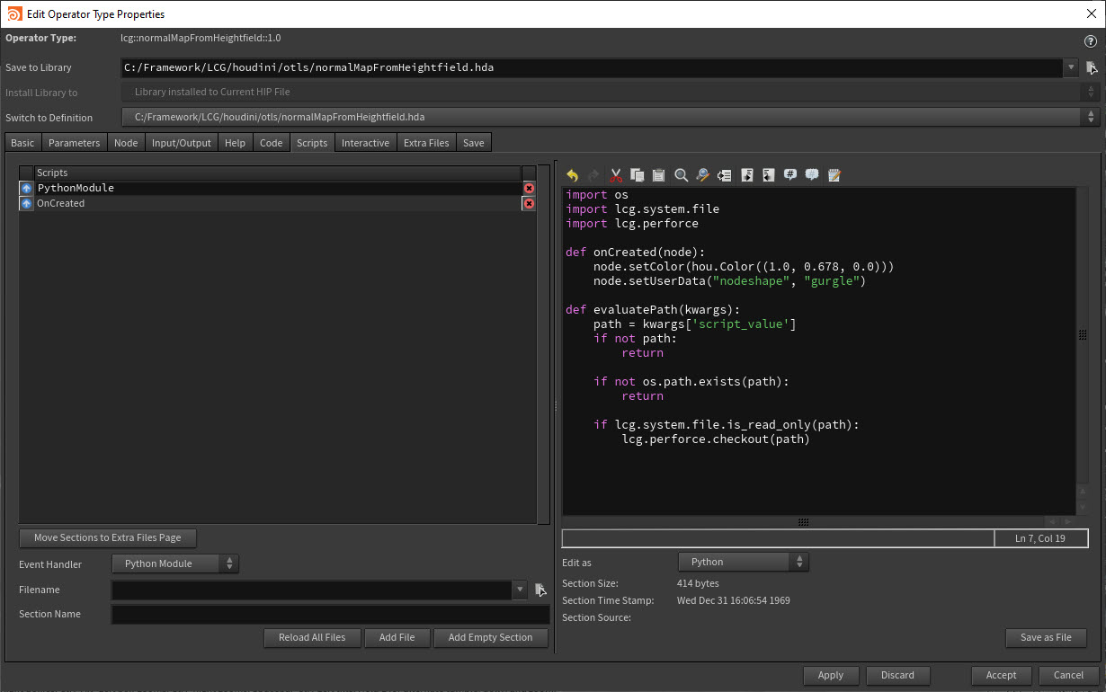 Houdini Digital Asset Creation - Parameter Callbacks - Code
