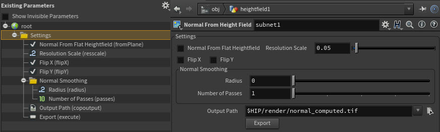 Hda parameters organized