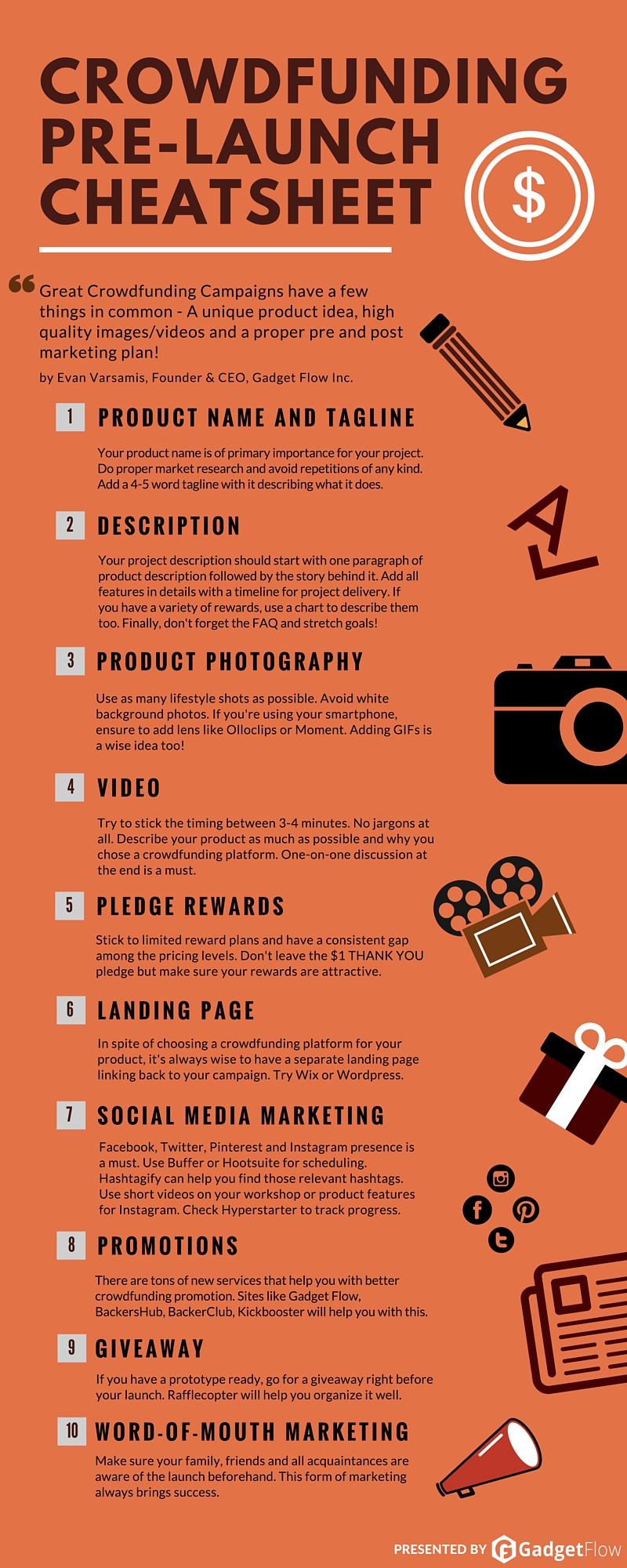Infographic] Crowdfunding Pre-Launch Checklist : Crowdfunding