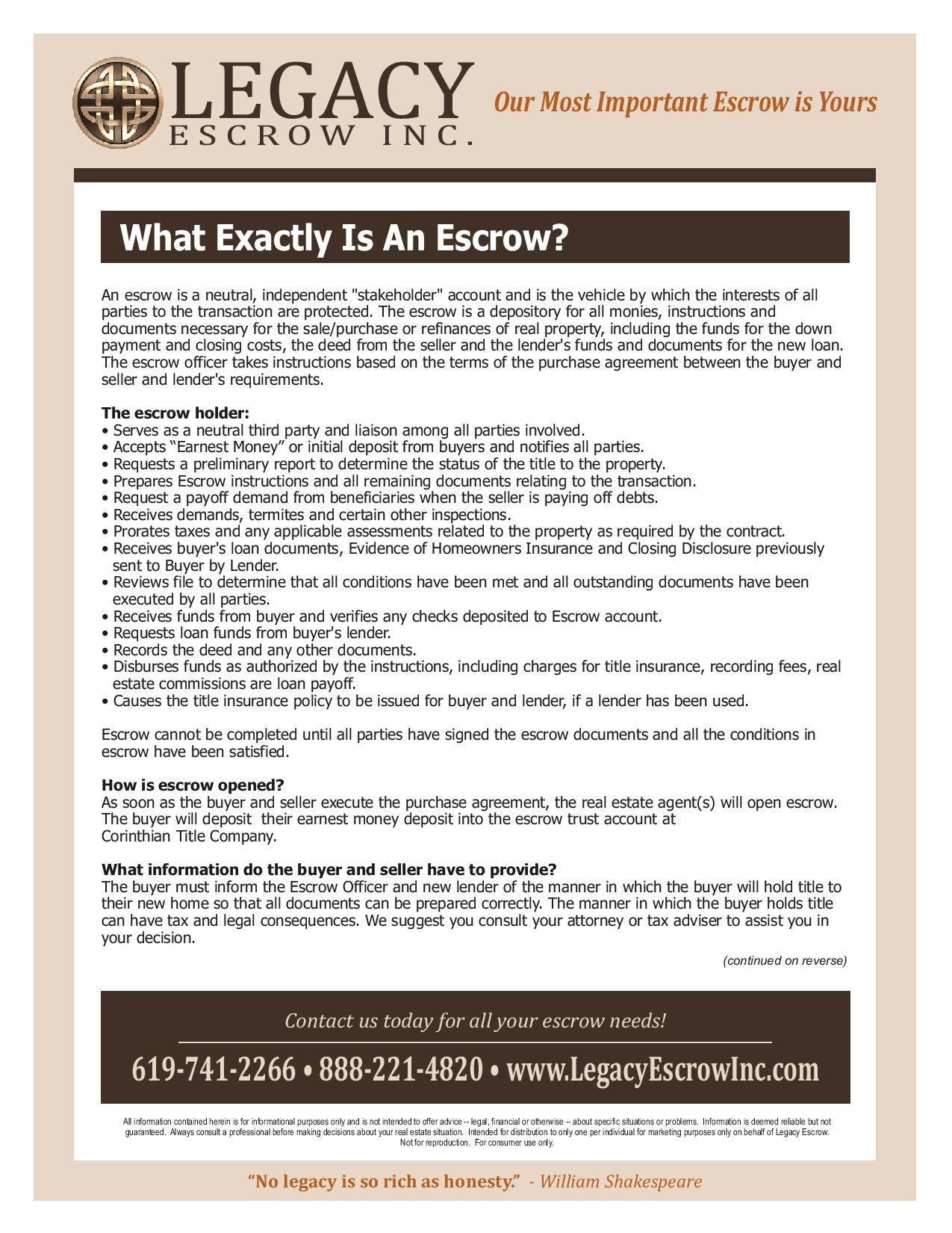 What Exactly is an Escrow?