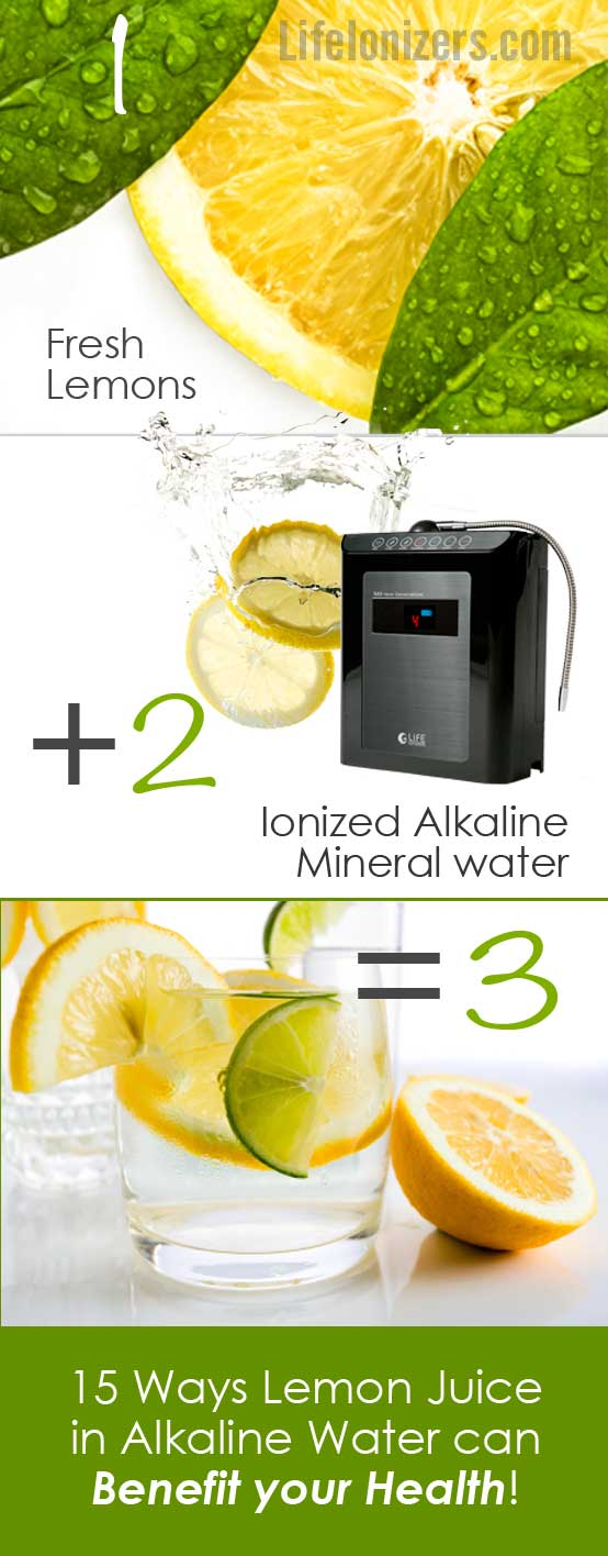lemon juice and alkaline water benefits infographic