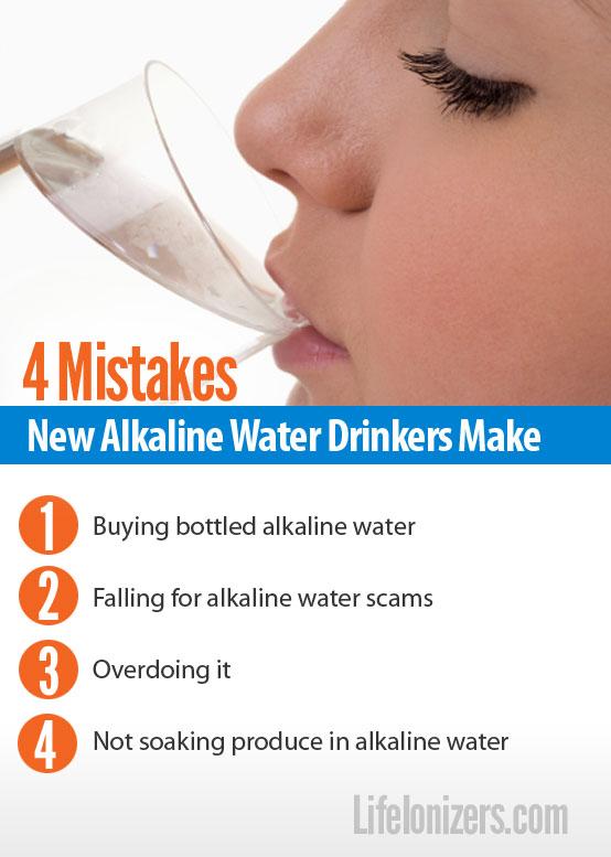 4 mistakes new alkaline water drinkers make