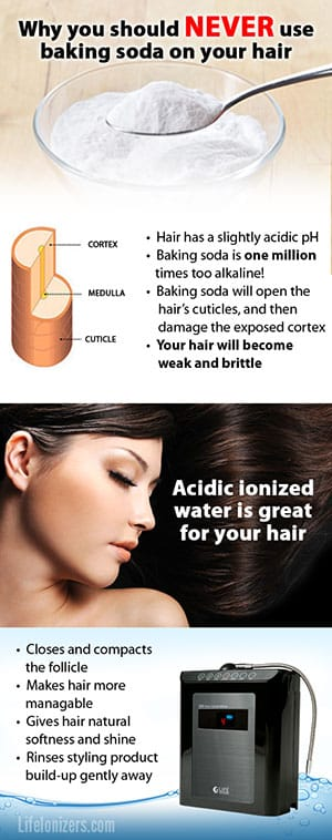 acidic water rinse for hair infographic