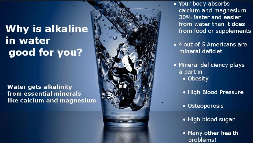 alkaline in water infographic