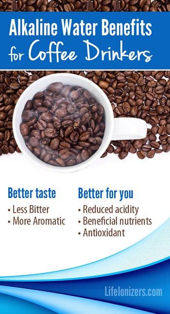 alkaline water benefits for coffee infographic