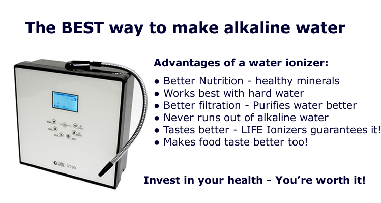 why water ionizers make the best alkaline water infographic