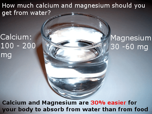 calcium and magnesium in alkaline water infographic