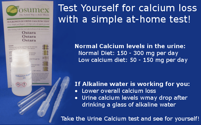 how to find out if alkaline water is reducing calcium loss infographic