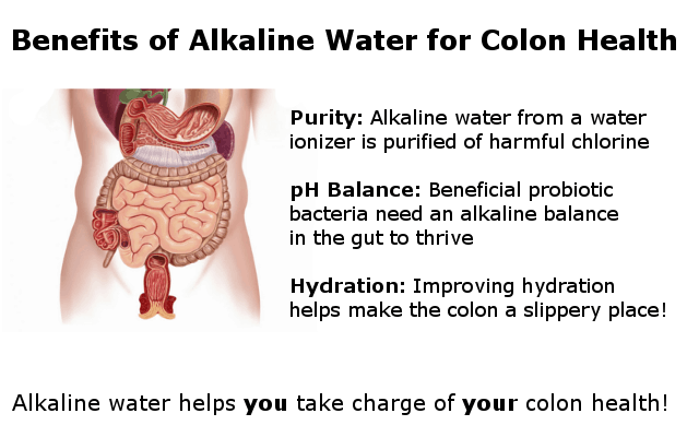 alkaline water benefits for the colon infographic