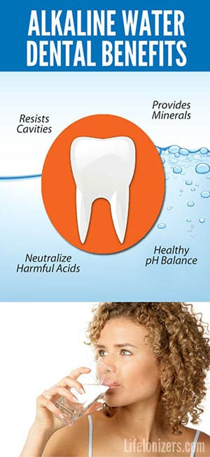 alkaline water dental benefits infographic