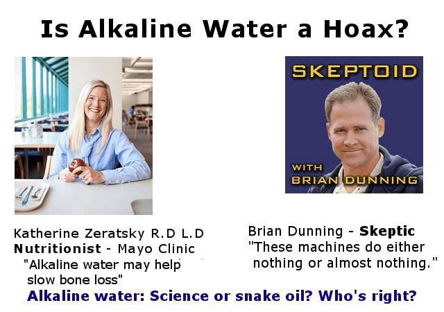 alkaline water, hoax or healthy image