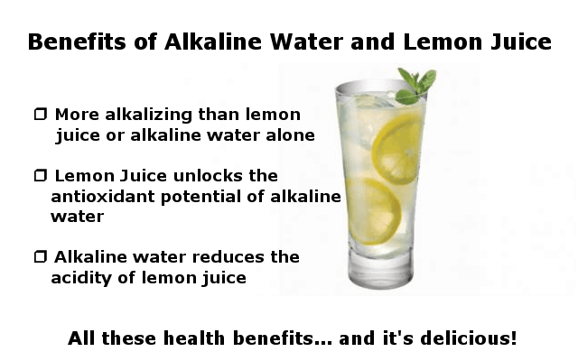 benefits of alkaline water and lemon juice infographic