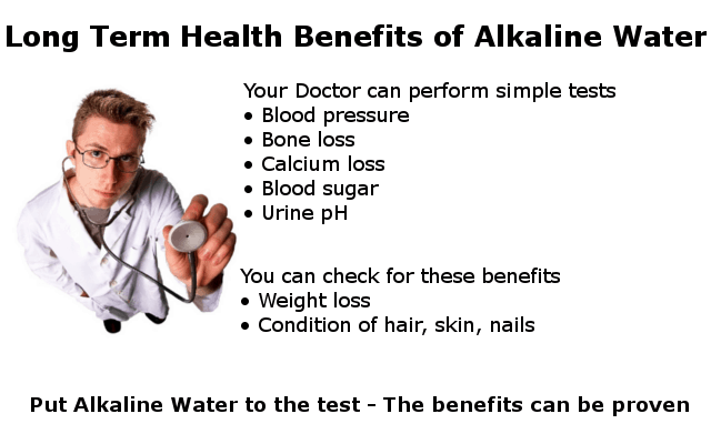 How to check for the long term benefits of alkaline water image