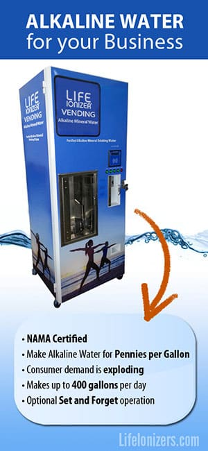 The Alkaline Water Vending Machine for your Business