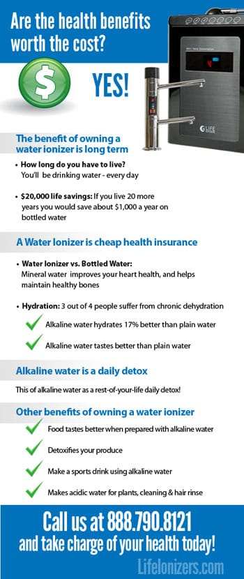 benefits of owning a water ionizer infographic