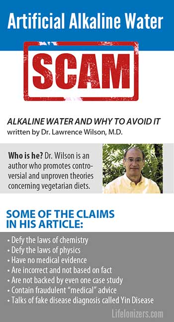 Artificial Alkaline Water Scam | Quack Alert by Life Water Ionizers