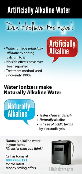 artificially alkaline water side effects infographic