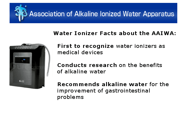 Association of Alkaline Water Ionizer Apparatus: Water clusters not based on fact