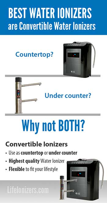 The Best Water Ionizers are Convertible