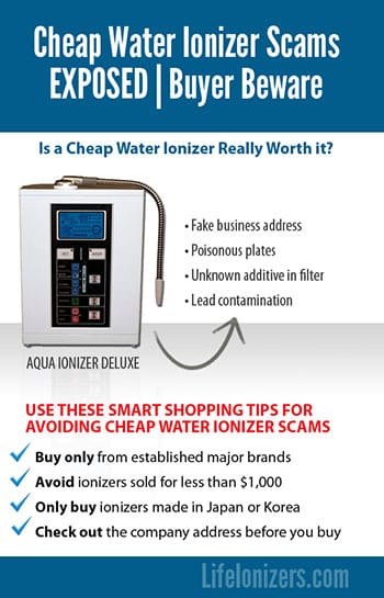 cheap water ionizers dangers infographic