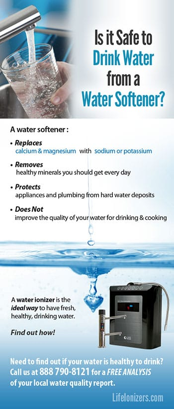 is it safe to drink softened water infographic