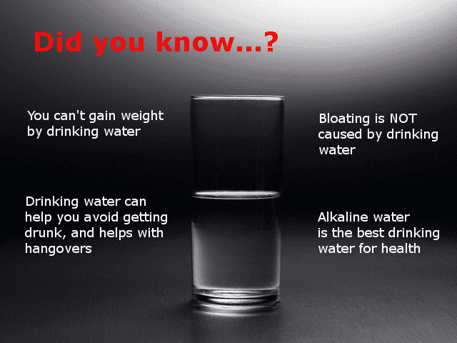 4 facts about drinking water infographic