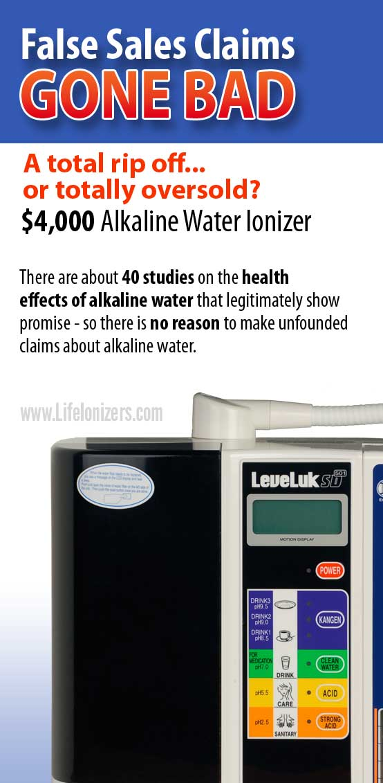 The $4,000 alkaline water scam EXPOSED