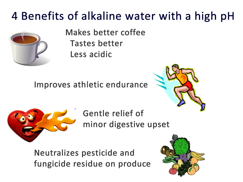 4 uses for alkaline water with a pH greater than 10 infographic