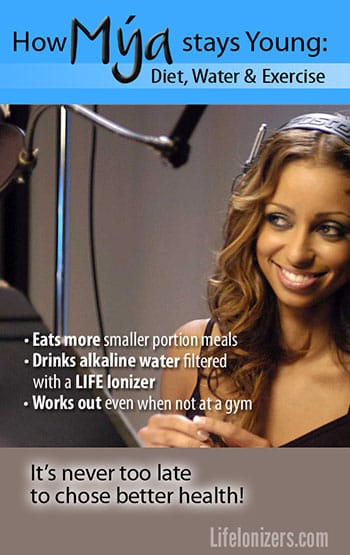How Mya stays Young: Diet, Exercise and Alkaline Water