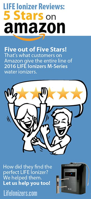 life ionizers reviews: 5 stars on amazon image