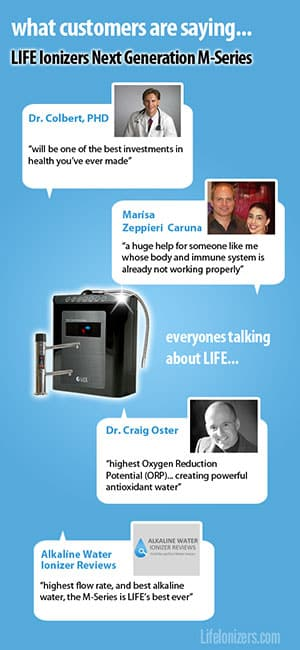 2014 Life Water Ionizers Reviews infographic