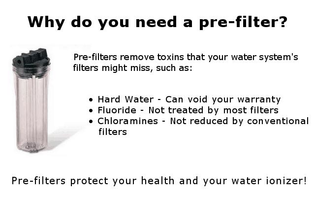 water ionizer prefilter infographic