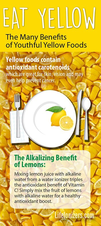 alkaline-diet-many-benefits-youthful-yellow-foods-infographic