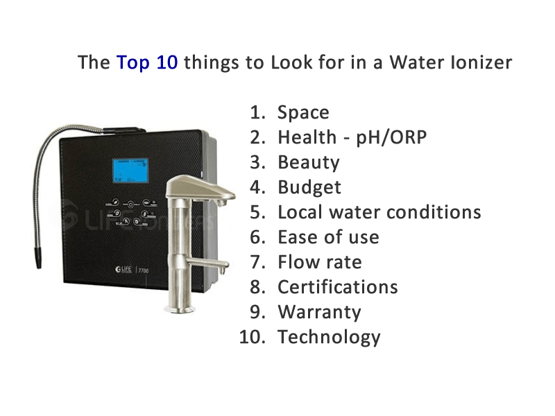 top 10 things to look for in a water ionizer