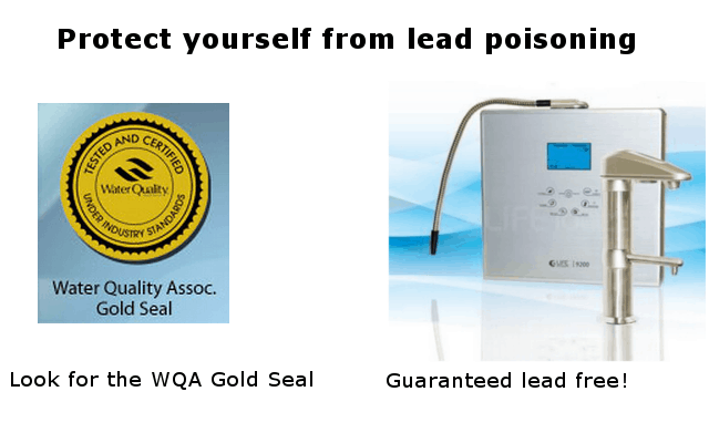 QWA Gold - Your assurance of a safe water ionizer infographic