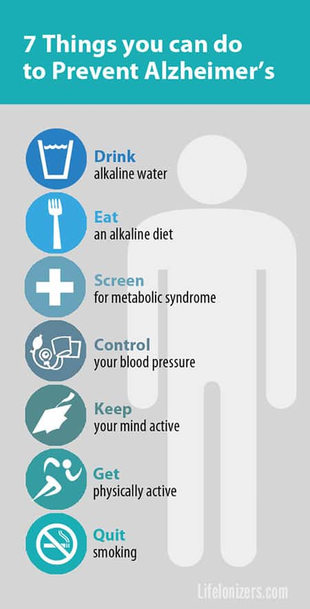 7 ways to reduce your risk of Alzheimer's disease infographic