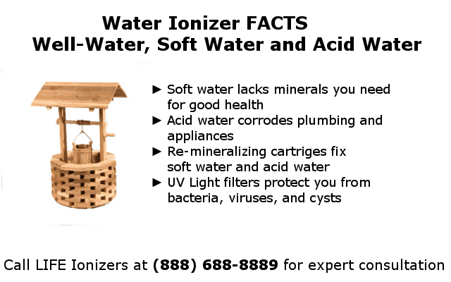 water ionizers and well water facts infographic