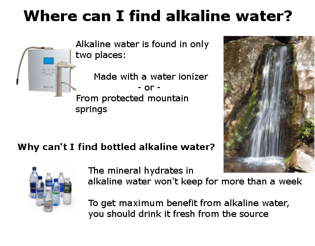 Where can I find alkaline water? Infographic