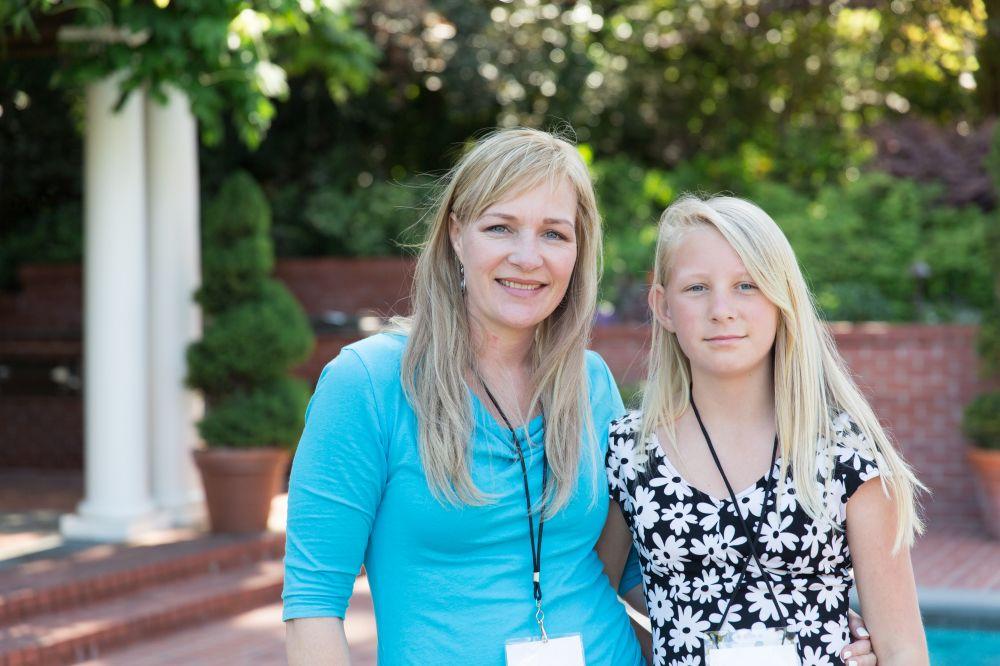 Saige and Mom at Grant Recipient Reception