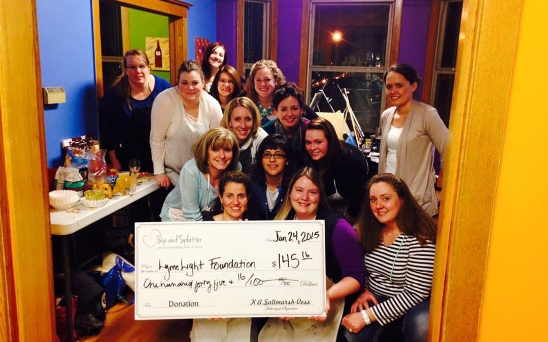 Sip and Splatter Event Honoring a Grant Recipient – January 24, 2015