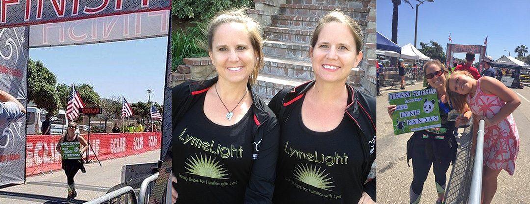 Twins Jessica Bedrinana and Jamie Johansson, MOUNTAINS 2 BEACH Marathon May 2017