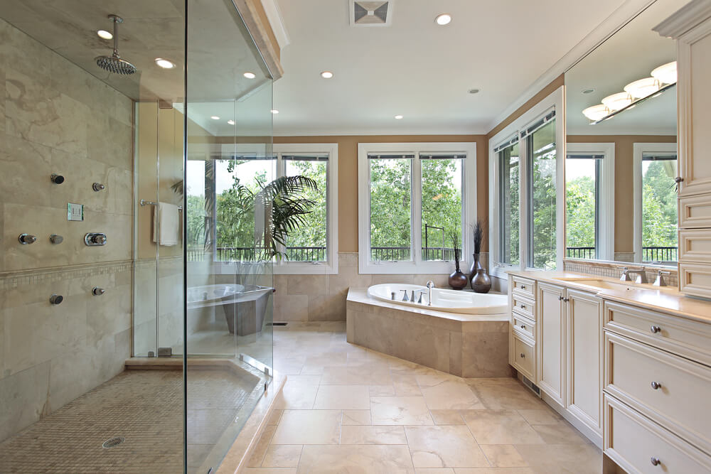 If privacy permits, natural light in any bathroom will give a wonderful experience.