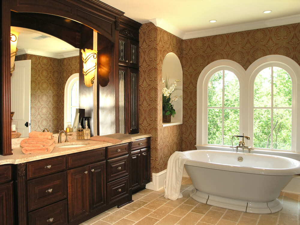 What a simple yet elegant design. Stand alone tubs continue to be a highly sought after options for luxury.