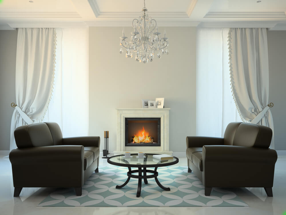 modern fireplace ideas for black and white homes