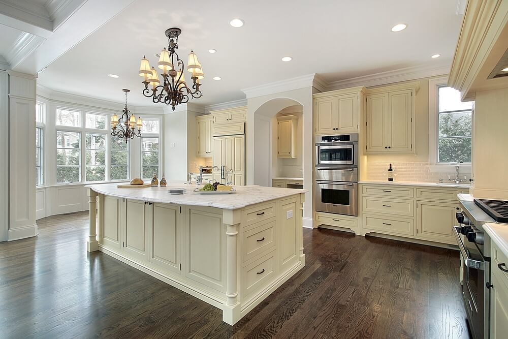 Lighting can accent the colors of your kitchen