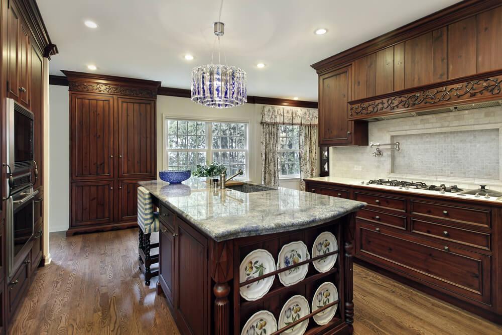 Choose unique light fixtures in your kitchen