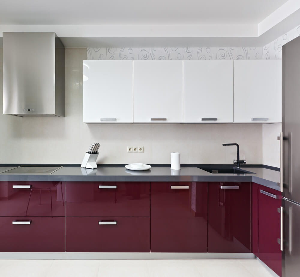 Magenta cabinets